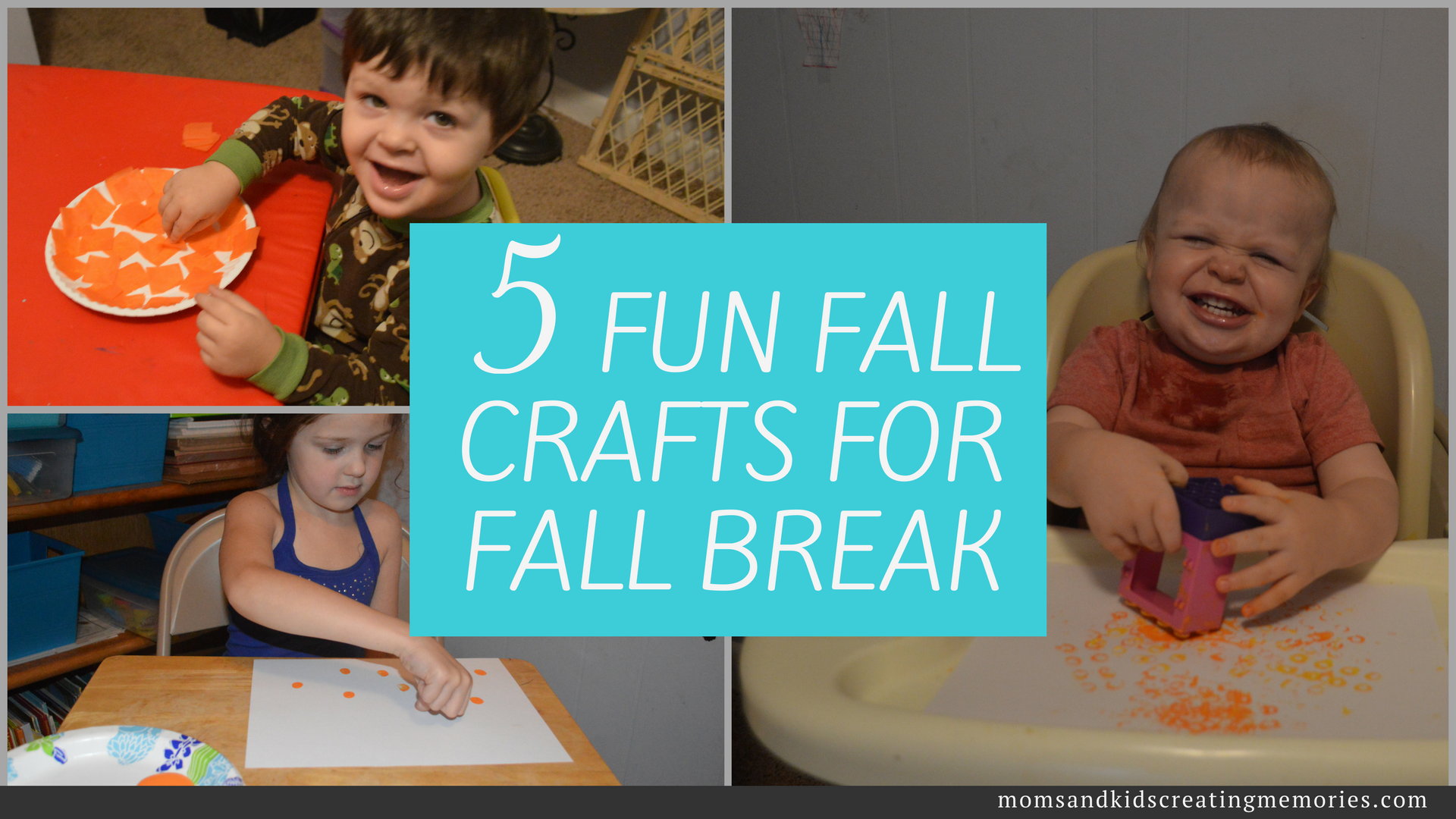 5 Fun Fall Crafts for Fall Break - check out these fun fall crafts that I tested with my kids and they were a hit! Check it out!