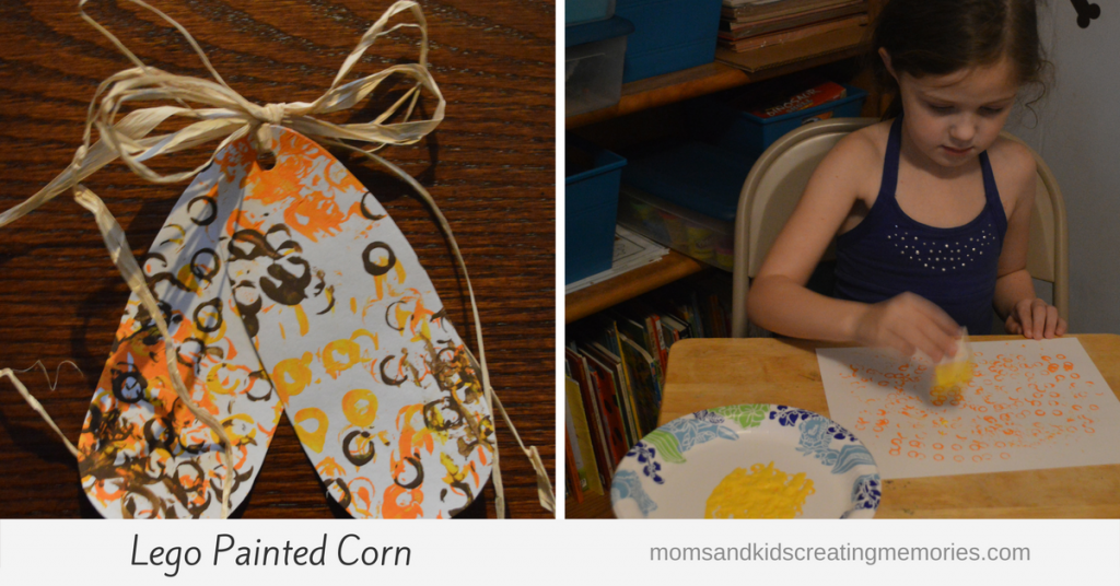 Lego Painted Corn - loved using this as a decoration last year for Thanksgiving and the kids loved making them!