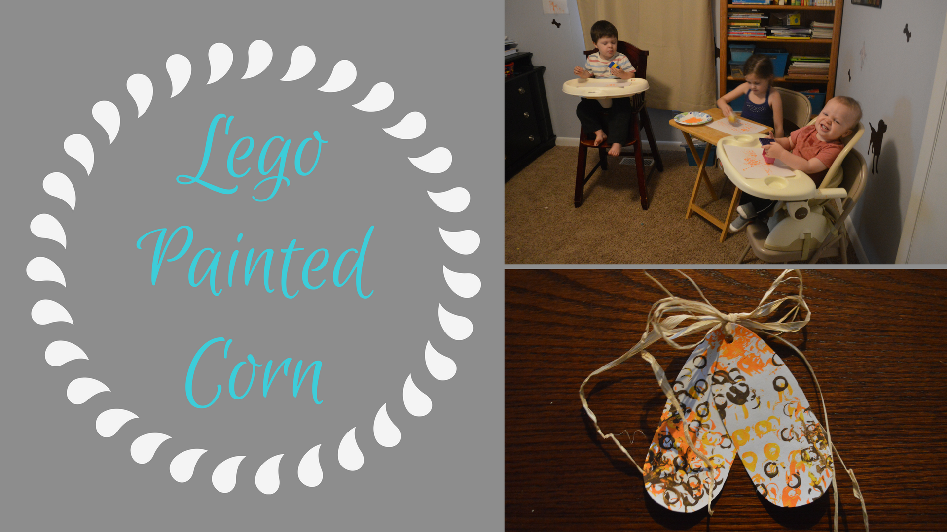 Lego Painted Corn - A fun and easy fall craft that your kids will love and will make a great decoration.
