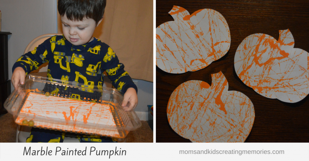 Marble Painted Pumpkins - so much fun, you have to try this with your kids!