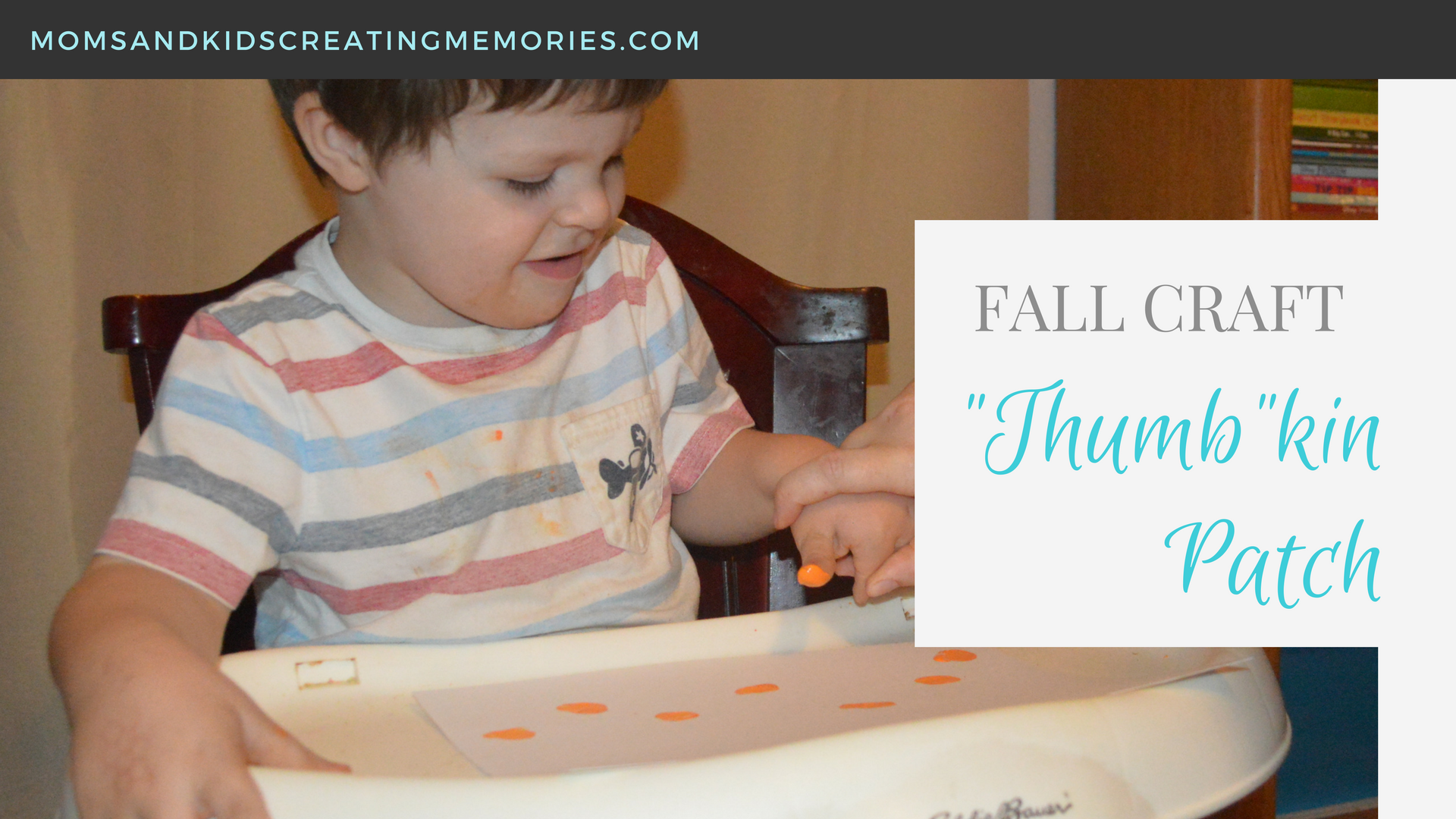 Thumb-kin Patch Fall Craft - using your kids thumbprints to have fun, create a memory and make a keepsake.