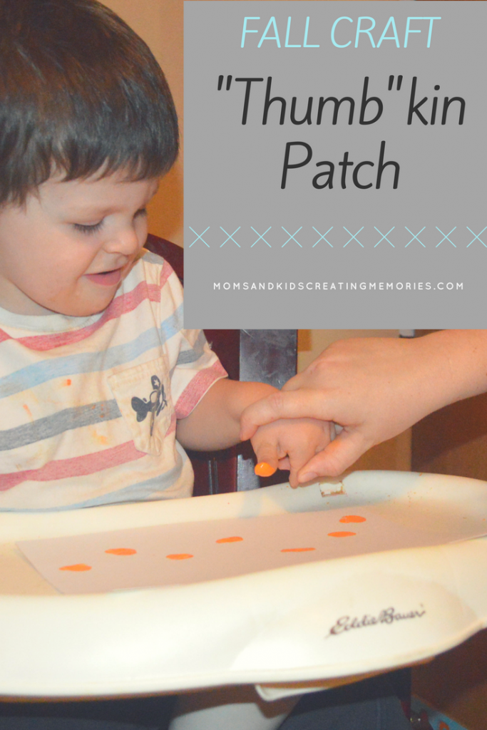 Fall Craft - Thumb-kin Patch - a fun and easy fall craft to do with your kids, with little mess, they will love and you will have a keepsake.