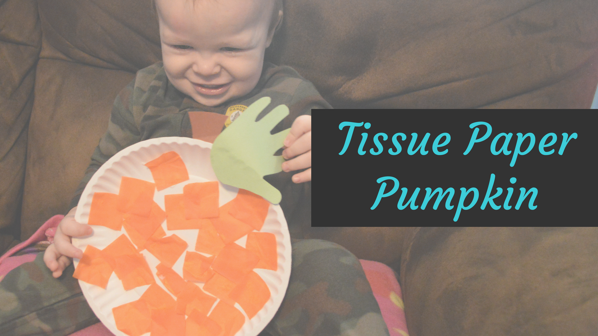 Tissue Paper Pumpkin - a fun and easy fall craft