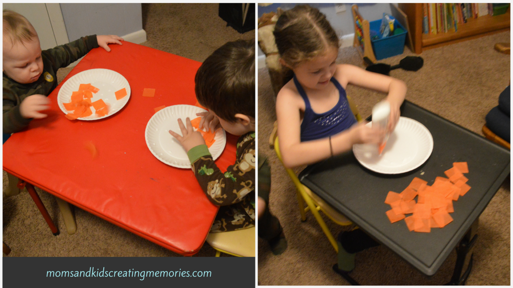 Tissue Paper Pumpkin - all three of my kids love this craft - so easy and yet so fun