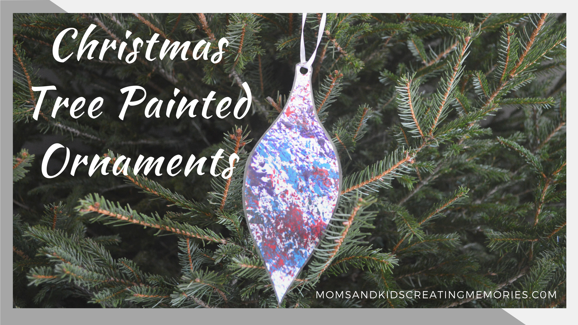 Christmas Tree Painted Ornament Moms And Kids Creating Memories
