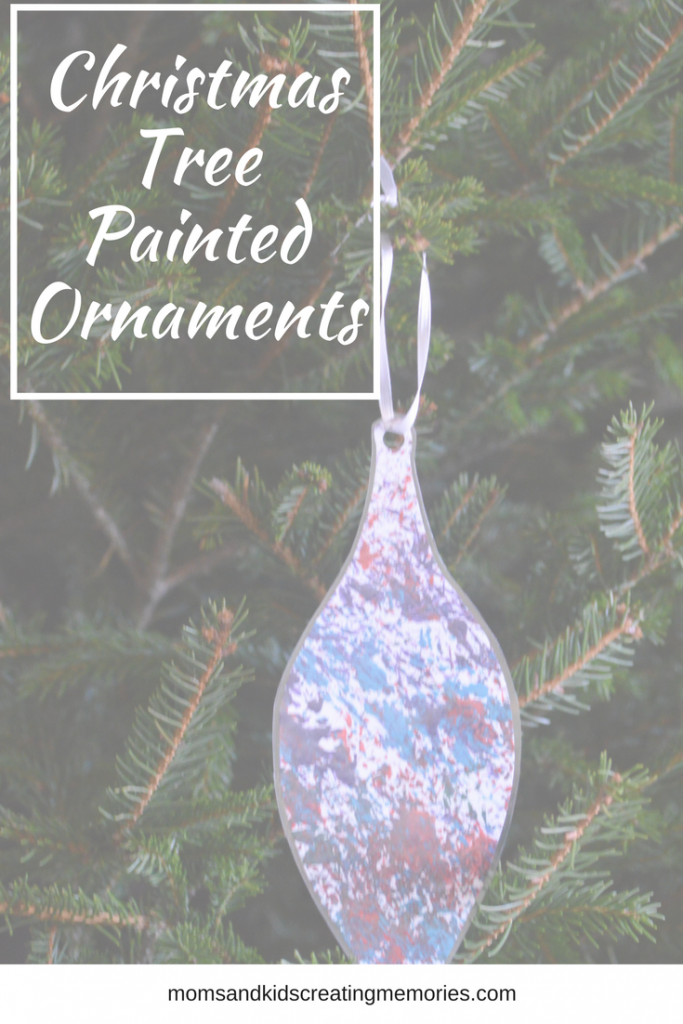 Christmas Tree Painted Ornaments - enjoy a fun craft with your kids that require a few supplies and a lot of fun. My kids and I enjoyed making these with pieces of our own Christmas Tree and now we get to enjoy them on our Christmas tree.