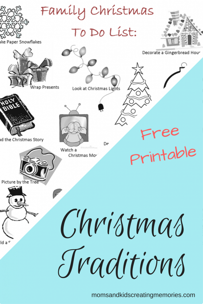 Family Christmas to do List Freebie