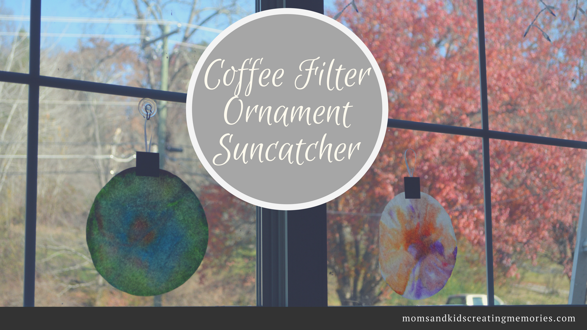 Coffee Filter Suncatcher Ornament - A fun and easy Christmas craft to do with you kids and you probably already have all the supplies you need already in your house. Hope you enjoy and create some memories with your kids!