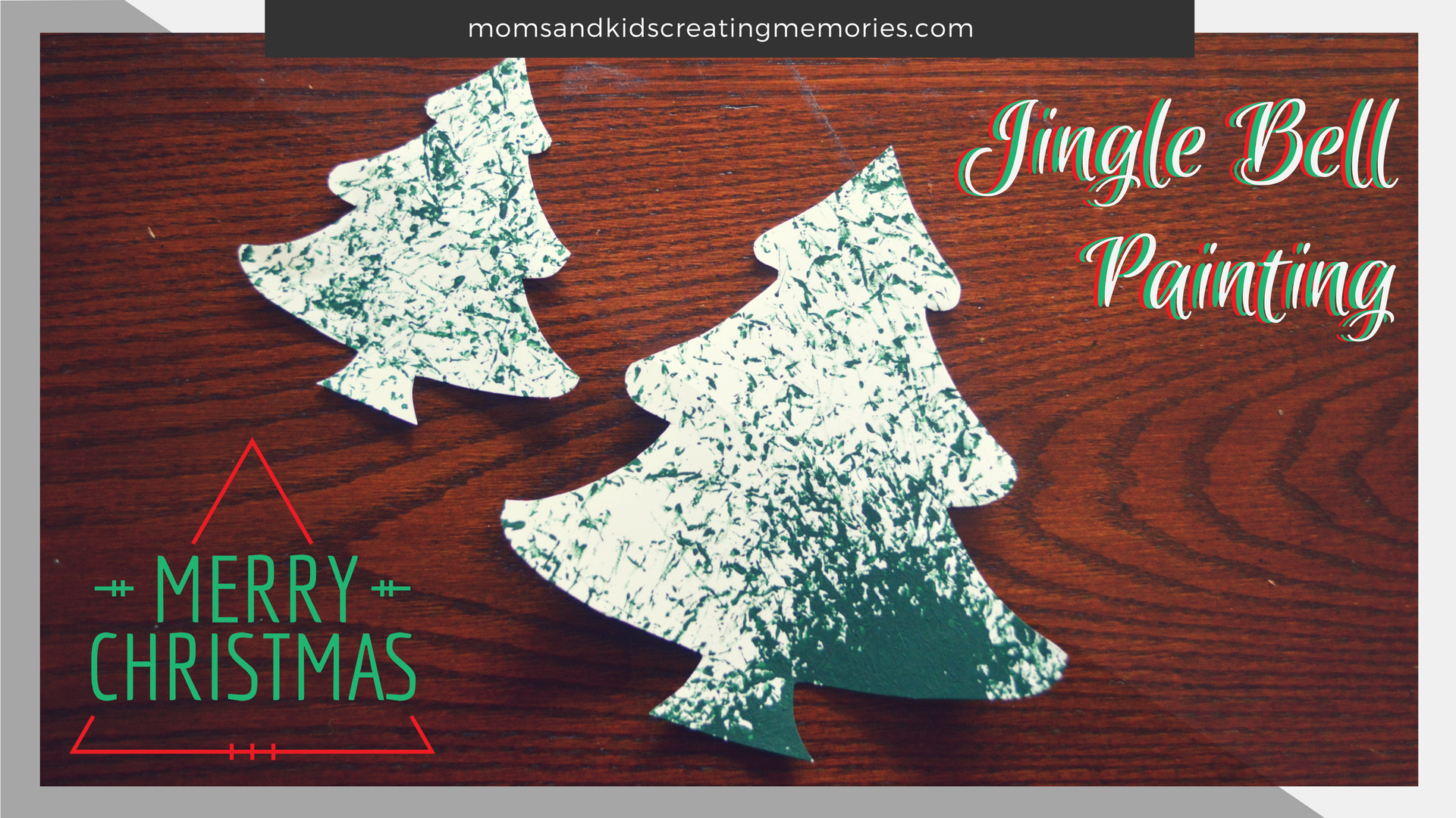 Jingle Bells Painted Tree - this is an easy and fun craft that will be different every time you try it and there are so many possibilities for what can be made with it. Try it with your kids and see if they enjoy it as much as my daughter did.