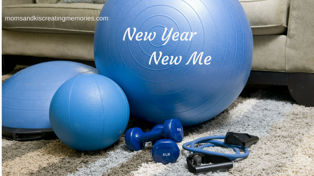 New Year New Me - workout supplies - getting healthier