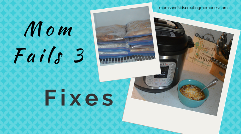 Mom Fails - 3 - Fixes - Pictures of freezer meals and instant pot meal