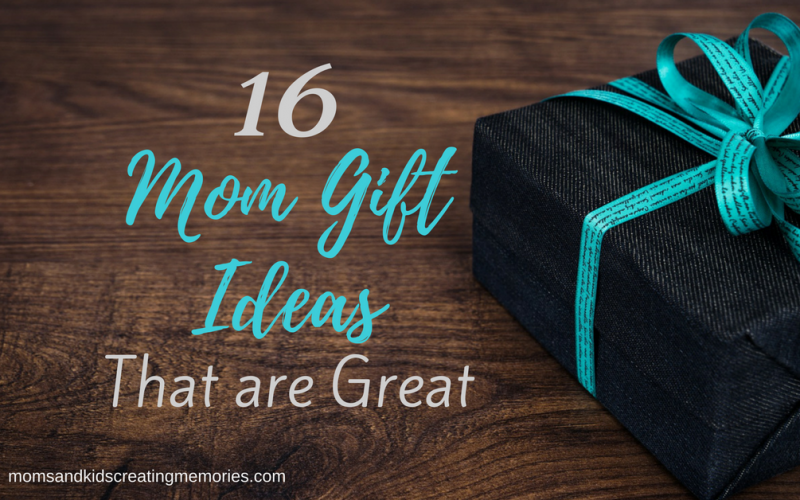Gift on Wood Floor - Text Overlay - 16 Mom Gift Ideas That are Great