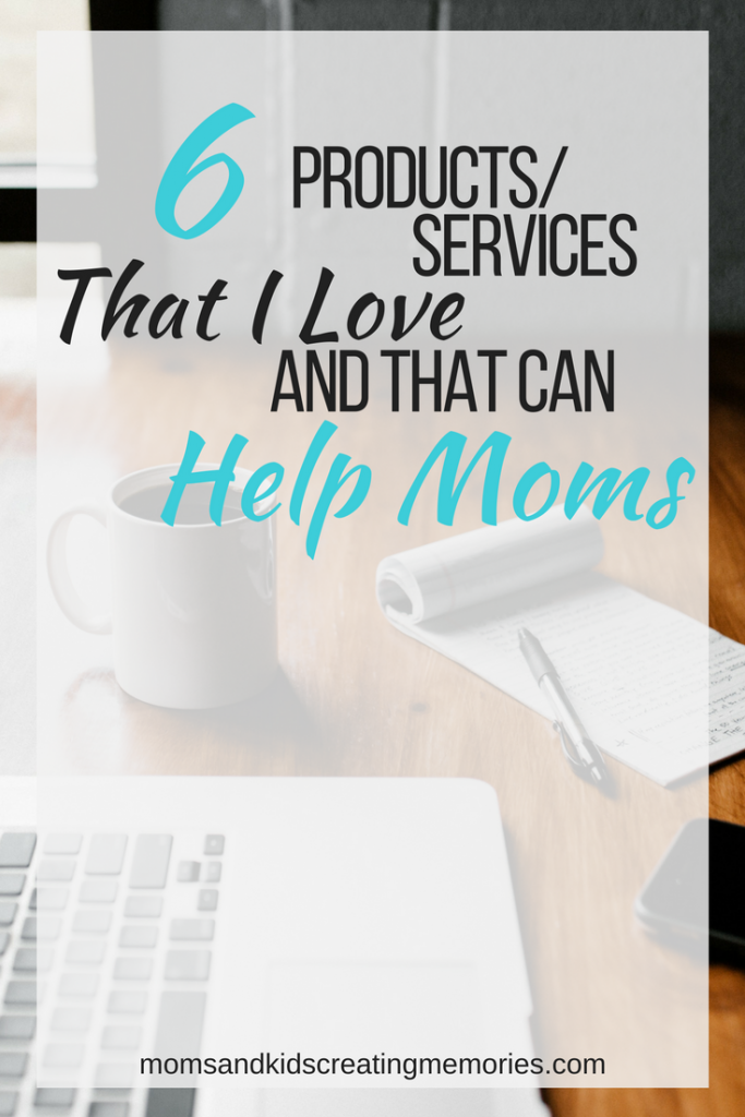 Laptop, Phone, Notepad and coffee on table with text overlay 6 Products Services That I Love And That Can Help Moms - Photo by Andrew Neel on Unsplash